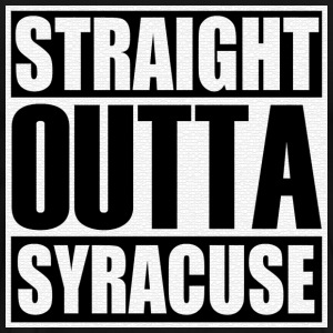 Straight Outta Syracuse T-Shirts - Men's Premium T-Shirt