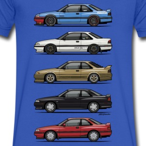 Stack of Mazda MX6 GTs T-Shirts - Men's V-Neck T-Shirt by Canvas