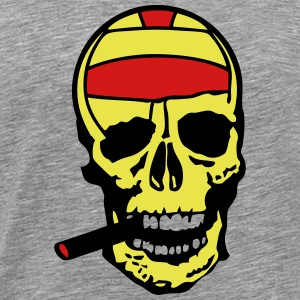 skull volleyball water polo ball 0 T-Shirts - Men's Premium T-Shirt