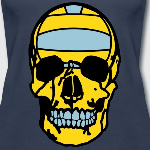 skull volleyball water polo ball  Tanks - Women's Premium Tank Top