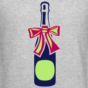 champagne bottle gift knot Long Sleeve Shirts - Crewneck Sweatshirt
