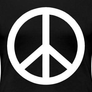 PEACE SIGN Make Peace Not War Women's T-Shirts - Women's Premium T-Shirt