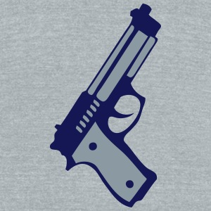 revolver gun automatic 12 T-Shirts - Unisex Tri-Blend T-Shirt by American Apparel