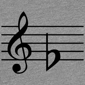 key downside ground music score Women's T-Shirts - Women's Premium T-Shirt