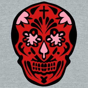 mexican skull dead head 128 T-Shirts - Unisex Tri-Blend T-Shirt by American Apparel