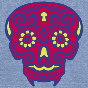mexican skull dead head 124 T-Shirts - Unisex Tri-Blend T-Shirt by American Apparel