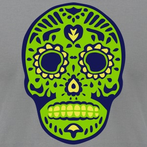 mexican death head skull dead 126 T-Shirts - Men's T-Shirt by American Apparel