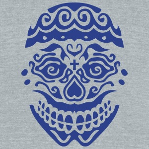 mexican skull dead head 123 T-Shirts - Unisex Tri-Blend T-Shirt by American Apparel