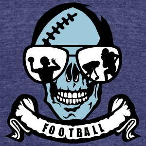 football head death skull banner bezel T-Shirts - Unisex Tri-Blend T-Shirt by American Apparel