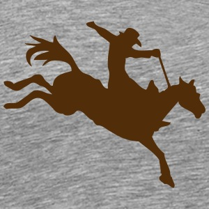 rodeo cowboy riding horse 2 T-Shirts - Men's Premium T-Shirt