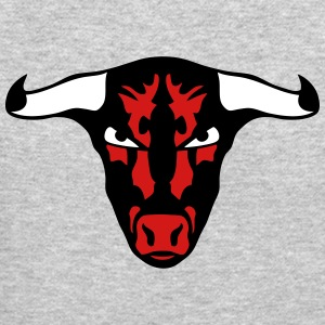ferocious wild animal bull 1202 Long Sleeve Shirts - Crewneck Sweatshirt