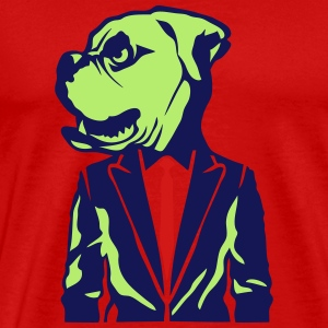 bulldog head tie suit T-Shirts - Men's Premium T-Shirt