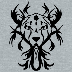 cheetah wild animal tribal tattoo T-Shirts - Unisex Tri-Blend T-Shirt by American Apparel