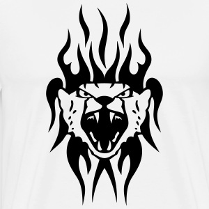 leopard tattoo tribal wild animal T-Shirts - Men's Premium T-Shirt