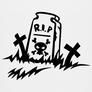 rip rest in peace grave drawing Kids' Shirts - Kids' Premium T-Shirt