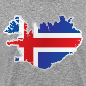 National territory and flag Iceland - Men's Premium T-Shirt