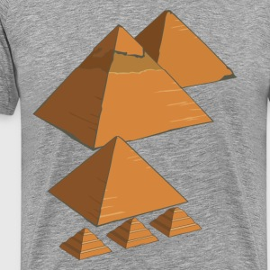 World famous Egyptian pyramids landmark - Men's Premium T-Shirt
