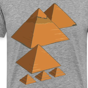 World famous Egyptian pyramids landmark T-Shirts - Men's Premium T-Shirt