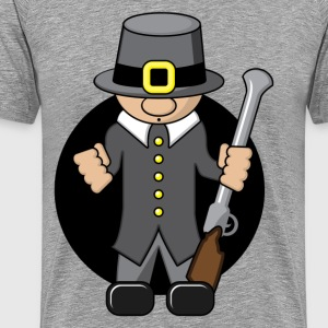 Secret agent with gun - Men's Premium T-Shirt