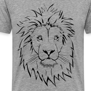 Lion head design art - Men's Premium T-Shirt