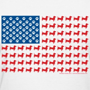Patriotic Dachshund USA - Women's T-Shirt