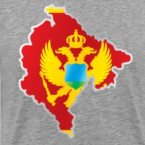 National territory and flag Montenegro - Men's Premium T-Shirt