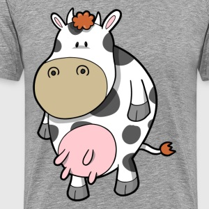 Cute cartoon animal cow - Men's Premium T-Shirt