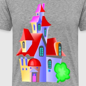 Cartoon castle design T-Shirts - Men's Premium T-Shirt