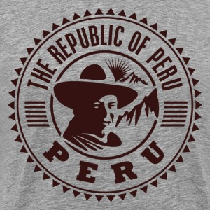 Peru travel stamp T-Shirts - Men's Premium T-Shirt