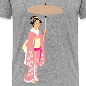 Japan traditional woman art T-Shirts - Men's Premium T-Shirt