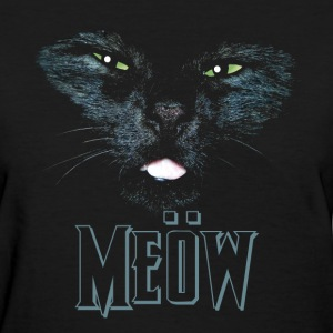 Cat shirt meow Heavy Metal black shirt - Women's T-Shirt