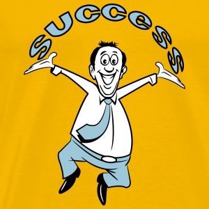 successful winner career joy T-Shirts - Men's Premium T-Shirt