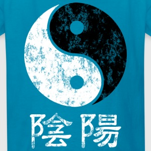 Yin and Yang symbol and words Kids' Shirts - Kids' T-Shirt