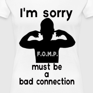 bad connection Women's T-Shirts - Women's Premium T-Shirt