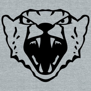 cheetah wild animal fierce 12022 T-Shirts - Unisex Tri-Blend T-Shirt by American Apparel