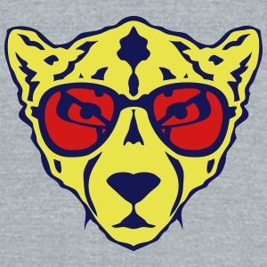 cheetah animal sun glasses 1202 T-Shirts - Unisex Tri-Blend T-Shirt by American Apparel