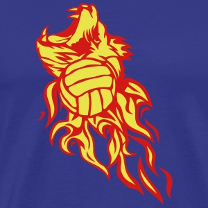 water polo volleyball flame logo lion T-Shirts - Men's Premium T-Shirt