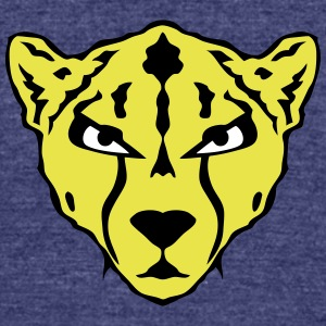 cheetah wild animal fierce 1202 T-Shirts - Unisex Tri-Blend T-Shirt by American Apparel