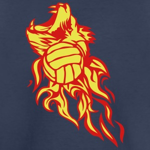 water polo volleyball flame logo lion Kids' Shirts - Kids' Premium T-Shirt