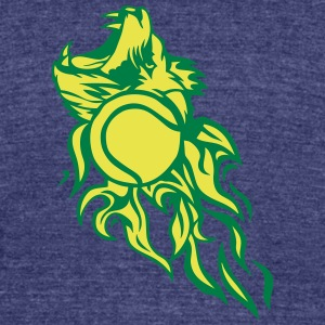 logo flame tennis lion roars wild 1202 T-Shirts - Unisex Tri-Blend T-Shirt by American Apparel