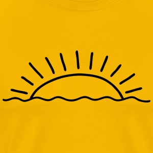 Sunset at the seaside - Men's Premium T-Shirt
