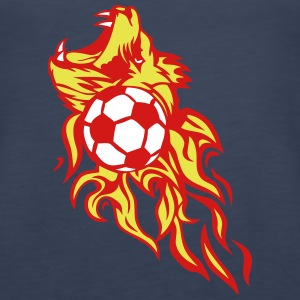 soccer flame lion roars wild 1202 Tanks - Women's Premium Tank Top