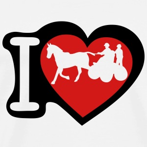 love horse hitch 1 T-Shirts - Men's Premium T-Shirt