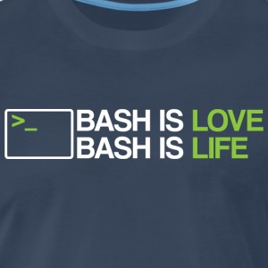 Bash is love - Men's Premium T-Shirt