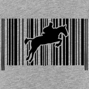 jump obstacle riding bar code 2 Kids' Shirts - Kids' Premium T-Shirt