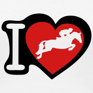 love horse jumping obstacle 2 Women's T-Shirts - Women's Premium T-Shirt