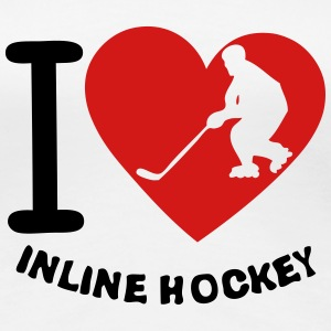 love inline skating hockey heart 2 Women's T-Shirts - Women's Premium T-Shirt