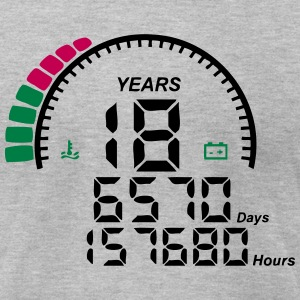 18 years anniversary counter T-Shirts - Men's T-Shirt by American Apparel