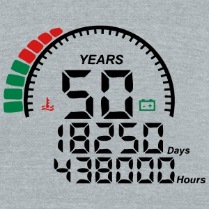 meter 50 years anniversary T-Shirts - Unisex Tri-Blend T-Shirt by American Apparel
