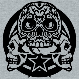 tribal skull profile 1112 logo T-Shirts - Unisex Tri-Blend T-Shirt by American Apparel